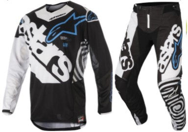 Kit Combo Alpinestars Techstar Venom - 2018- Black White Aqua 28in S-Small