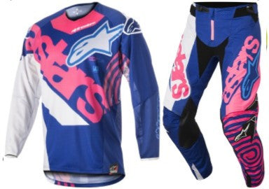 Kit Combo Alpinestars Techstar Venom - 2018- Plue Pink White 28in S-Small