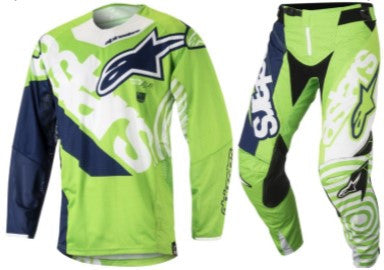 Kit Combo Alpinestars Techstar Venom - 2018- Green White Blue 28in S-Small