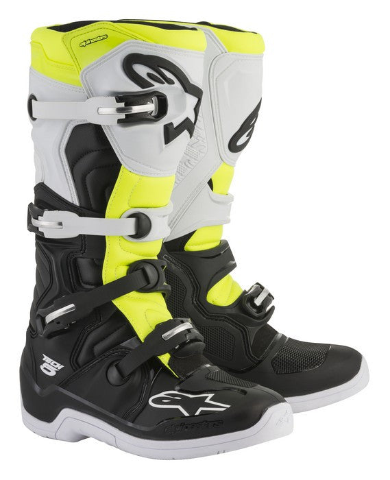 Kit Boot Alpinestars Tech 5 - 2018- Yellow Flo Black White UK 6