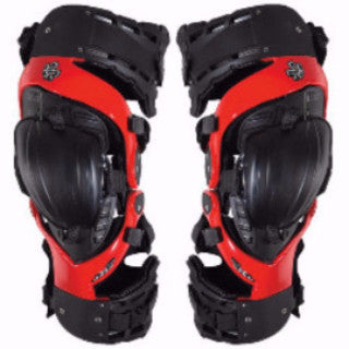 Asterisk Cell Knee Braces Red - Small