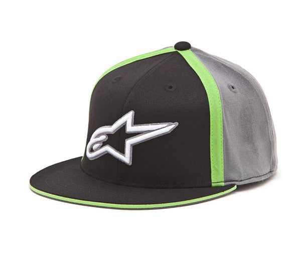 Alpinestars Juxoposed Flatbill Cap - Black/Green