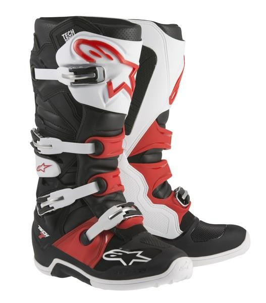 Alpinestars Tech 7 Motocross Boots - White/Red/Black