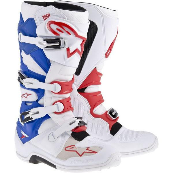 Alpinestars Tech 7 Motocross Boots - White/Red/Blue