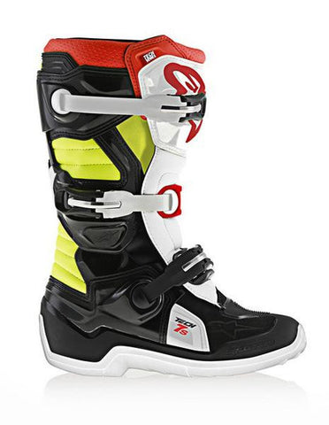 Alpinestars Youth Tech 7s Motocross MX Boots Black, Red & Yellow