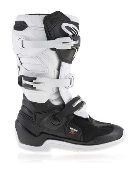 Alpinestars Tech 7S Youth Motocross Boots - Black/White