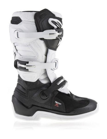 Alpinestars Youth Tech 7s Motocross MX Boots White & Black