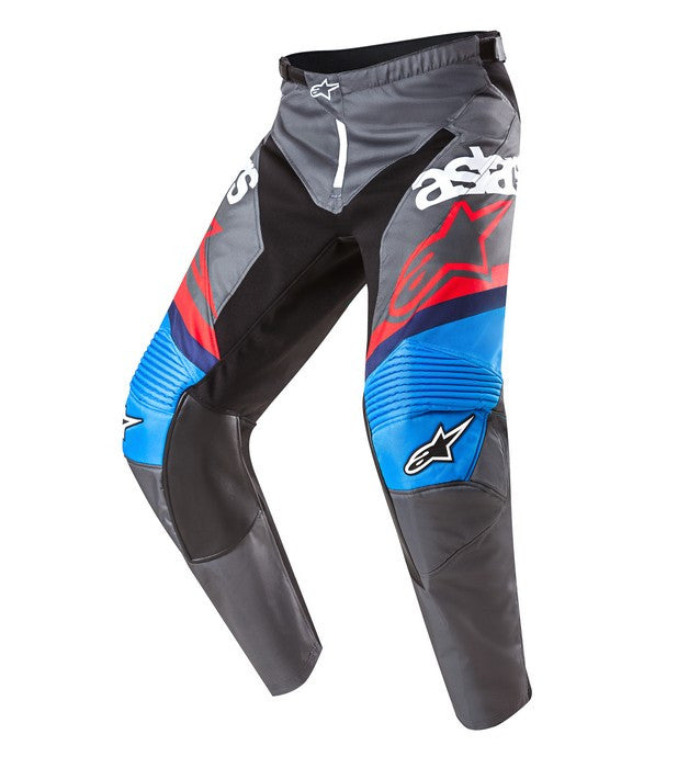 Kit Pants Alpinestars Racer - 2017- Anthracite Aqua Red White 30 In
