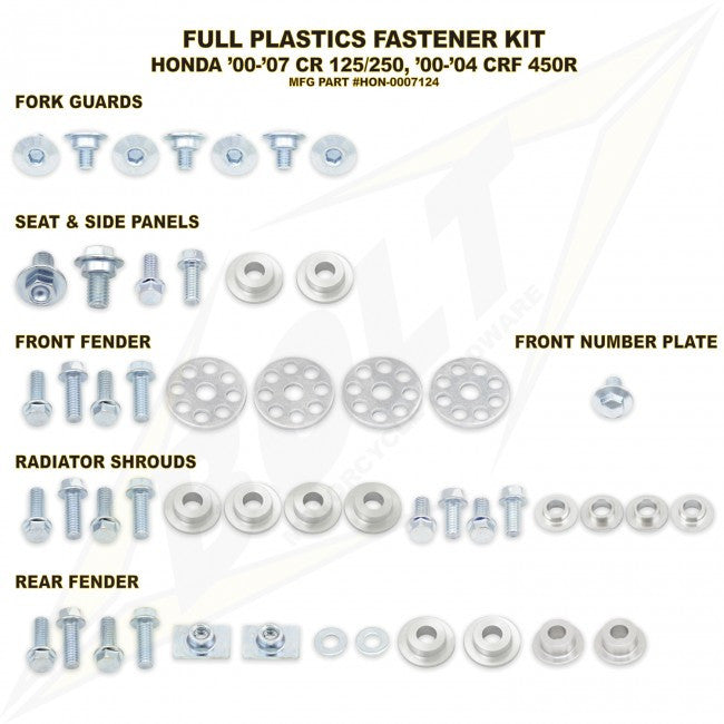 Workshop & Pits Fasteners Kit Bolt Hardware Full Plastics Fastener Kit KTM SX 50- 2002-2017
