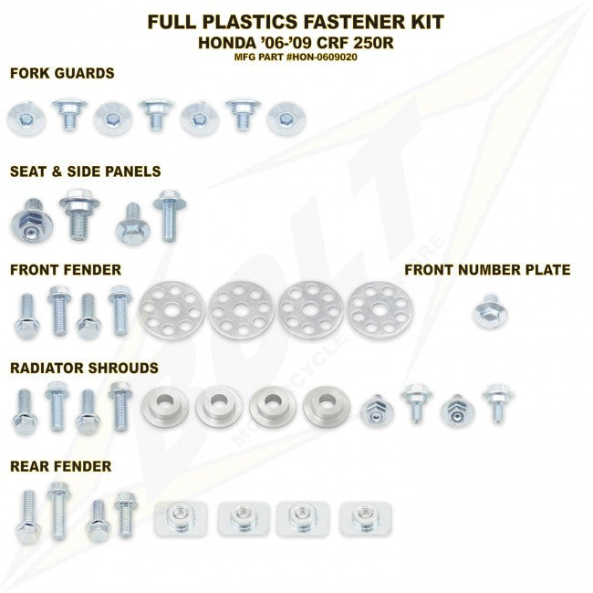 Workshop & Pits Fasteners Kit Bolt Hardware Full Plastics Fastener Kit KTM SX 85- 2003-2010