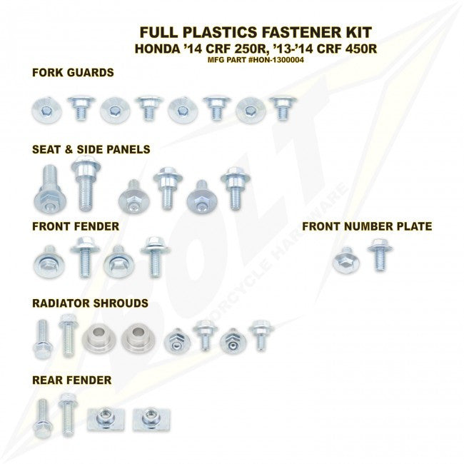 Workshop & Pits Fasteners Kit Bolt Hardware Full Plastics Fastener Kit KTM SX SXF - 2011-2014