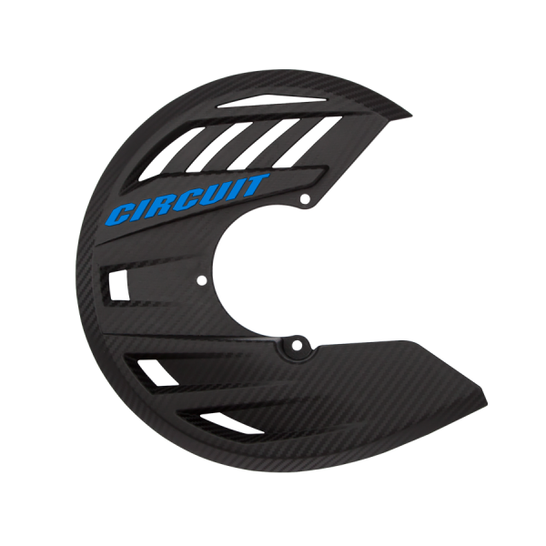 Chassis Plastics Front Disc Cover Carbon Look Circuit Equipment - - Blue Light