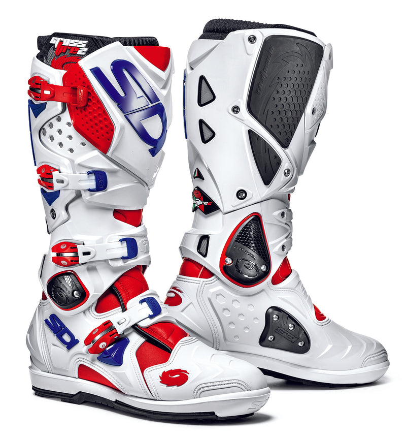 2018 SIDI Crossfire 2 SRS Motocross Boots Red White Blue