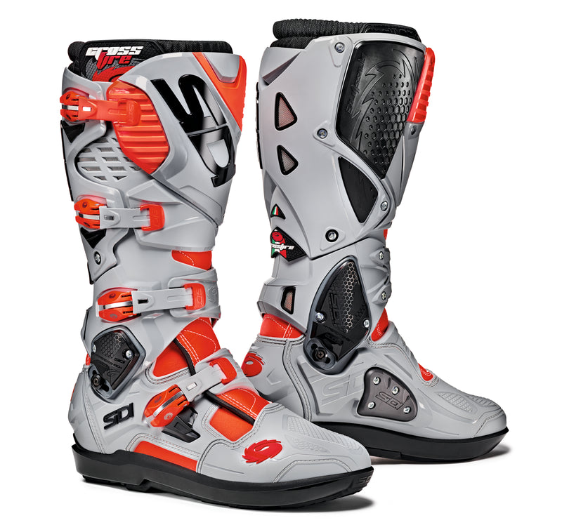 2018 SIDI Crossfire 3 SRS Motocross Boots Red Ash