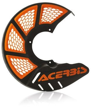 Chassis Plastics Front Disc Cover Acerbis X-Brake 2.0 KTM 85- - Black Orange