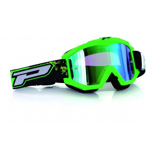 Pro Grip Race Line 3204 Goggles Flo Green Multilayered Lens