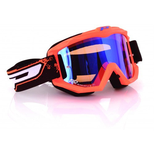 Pro Grip Race Line 3204 Goggles Flo Orange Multilayered Lens