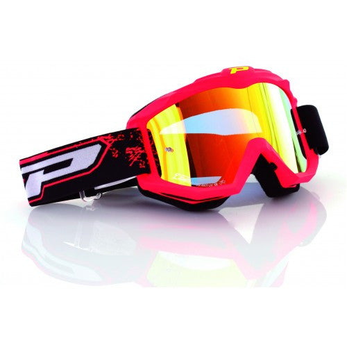 Pro Grip Race Line 3204 Goggles Flo Red Multilayered Lens