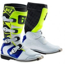 Gaerne SG-J Kids MX Boot White Blue Yellow Flo