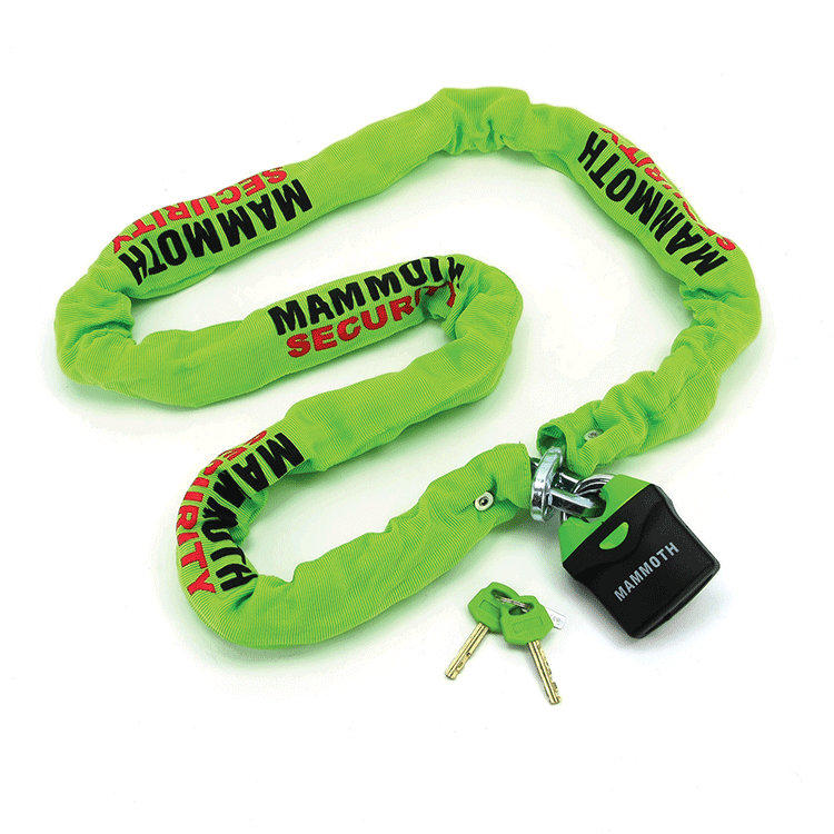 Mammouth Square link Chain and lock 10mm x 1.8m