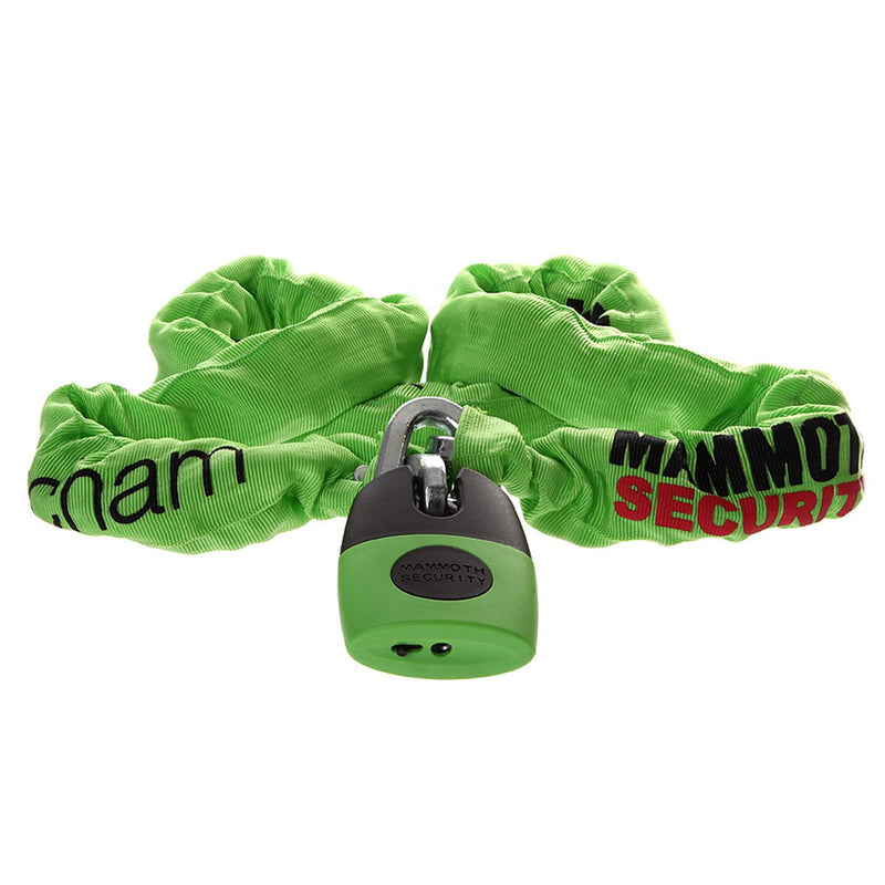 Mammouth Square link Chain and shackle lock  12mm x 1.2m Thatcham Approved