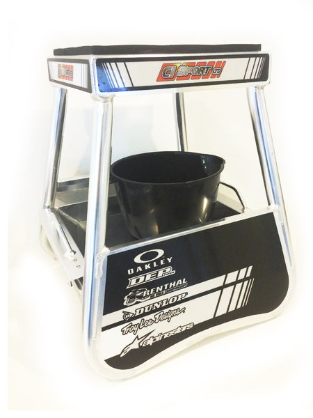 Motocross Alloy I.D Box Stand Including Tray & Jug