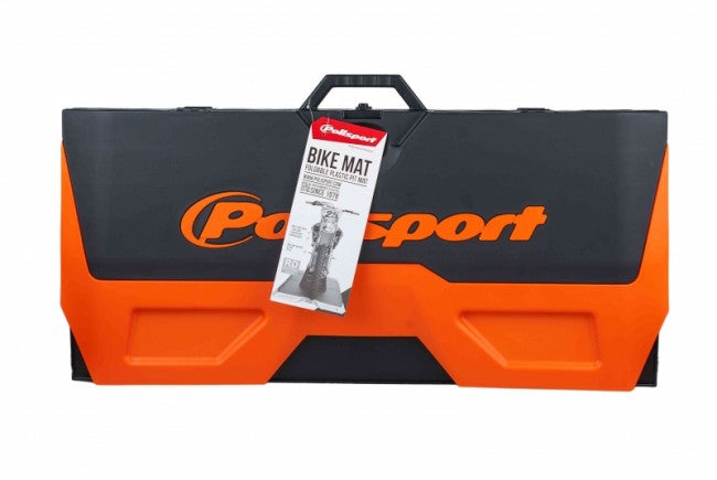 POLISPORT BIKE MAT MOTO PAD FOLDABLE BLACK/ORANGE