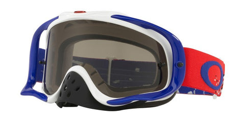 2018 OAKLEY CROWBAR - GOGGLE CHECKED FINISH Red White Blue Dark Grey Lens