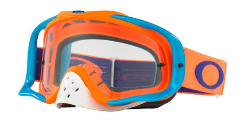2018 OAKLEY CROWBAR GOGGLE Flo Orange Blue Clear Lens