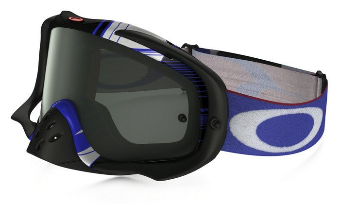 Kit Goggle Oakley Crowbar Ryan Dungey Block Pass - 2017- Dark Grey Lens Red White Blue