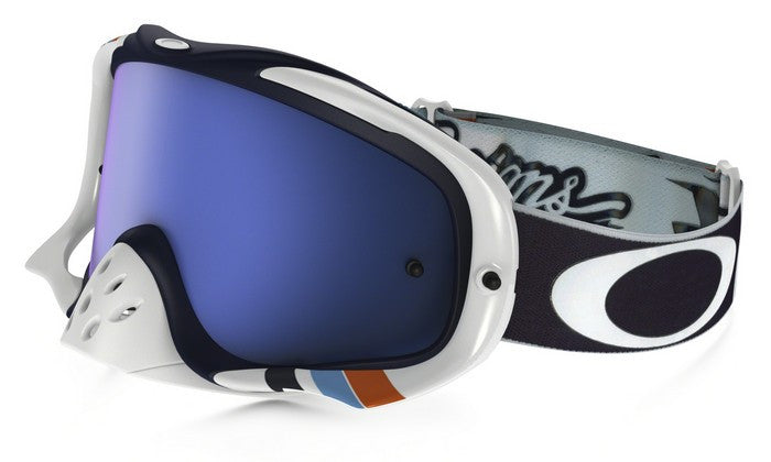 Kit Goggle Lens Oakley Crowbar Corse Troy Lee Designs (TLD)- 2017-  Black Ice Iridium Lens White
