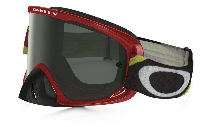 OAKLEY O2 GOGGLE HERITAGE RACER RED- DARK GREY LENS