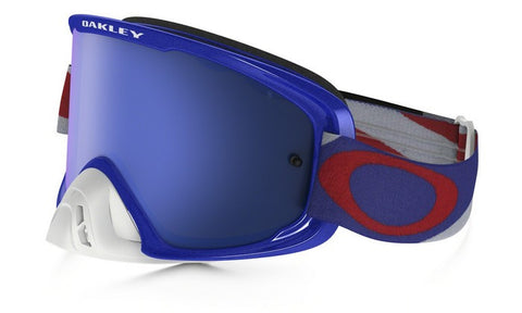 OAKLEY O2 GOGGLE HERITAGE RACER RED/WHITE/BLUE- BLACK ICE IRIDIUM LENS