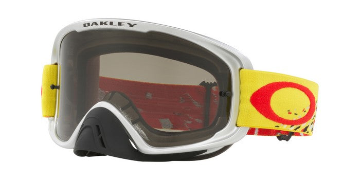 Kit Goggle Oakley OFrame 2-0Podium Check - 2018- Dark Grey Lens Red Yellow