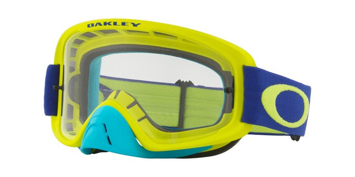 2018 Oakley O Frame 2.0 Flo Lime Blue- Clear Lens