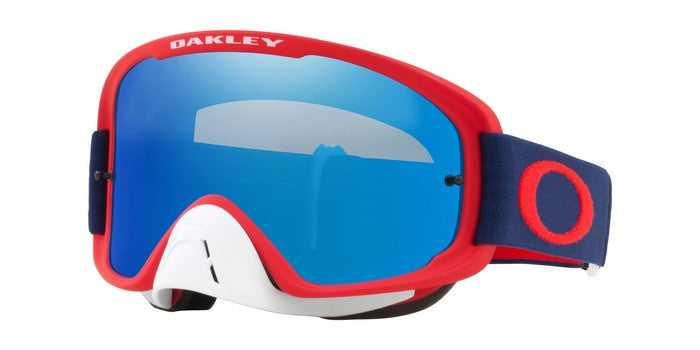 2018 Oakley O Frame 2.0 Red Navy- Black Ice Iiridium & Clear Lens
