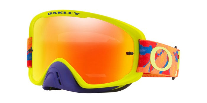 2018 Oakley O Frame 2.0 Thermo Camo Blue Orange Green- Fire Iridium & Clear Lens