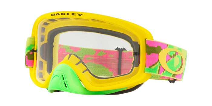 2018 Oakley O Frame 2.0 Thermo Camo Pink Yellow Green- Clear Lens