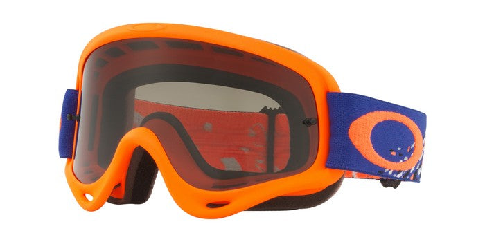 2018 Oakley O Frame Checked Finish Blue Orange Dark Grey Lens
