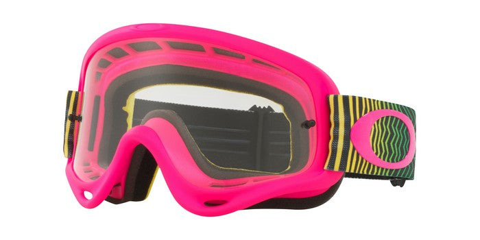 2018 Oakley O Frame Shockwave Flo Pink Yellow Green Clear Lens