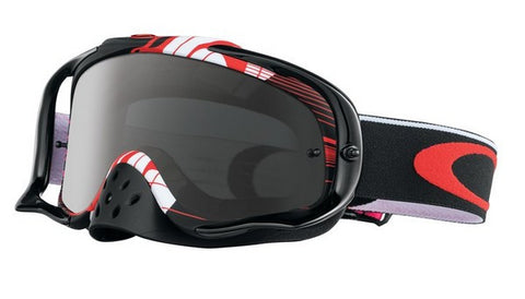 OAKLEY CROWBAR DUNGEY BLOCK PASS RED - (DARK GREY LENS)