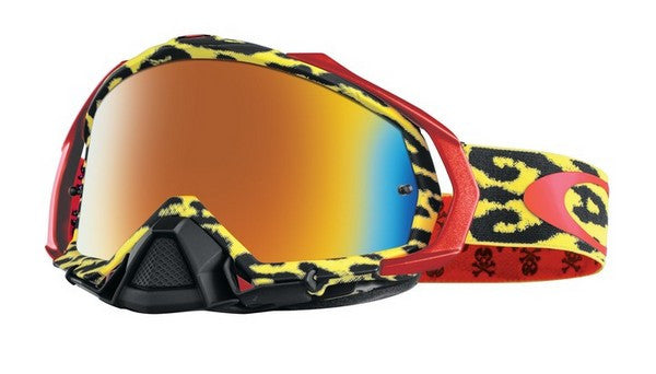 Kit Goggle Lens Oakley Mayhem Cheetah Troy Lee Designs (TLD)Pro- -  Iridium Lens Yellow Fire