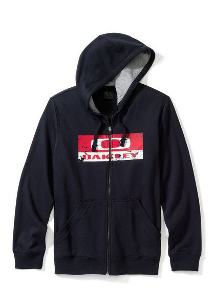Oakley Crackle Griffins Nest Zip Fleece - Jet Black