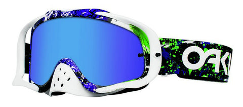 Oakley Crowbar Green/Purple - (Violet Iridium & Clear Lens)