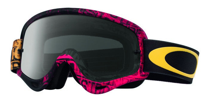 Kit Goggle Oakley O Frame Tagline Distress - - Dark Grey Lens Red Yellow
