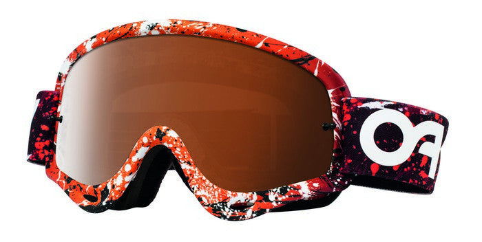 Oakley O Frame Splatter Blood Orange - (Black Iridium & Clear Lens)