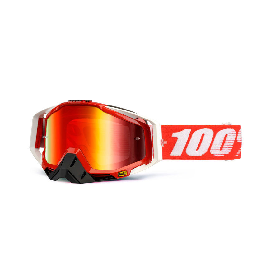 Kit Goggle Lens 100 Percent Race Craft Mirror Mirrored - - Mirrored Lens Red Fire