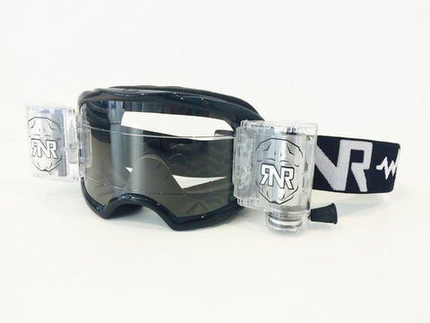 RNR Colossus Roll Off Goggles Wide Vision for Motocross, MX, Enduro - Black