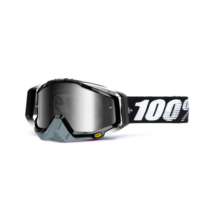 Kit Goggle Lens 100 Percent Race Craft Abyss Mirrored - - Mirrored Lens Black