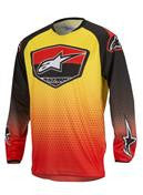 Kit Jersey Alpinestars Racer Supermatic - 2017- Red Black Yellow S - Small